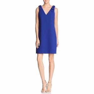 New Eliza J Bow Sheath Cobalt Blue Dress